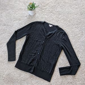 Black Lacy Cardigan
